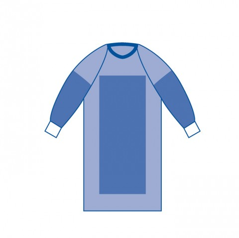reinforced surgical gown raglan