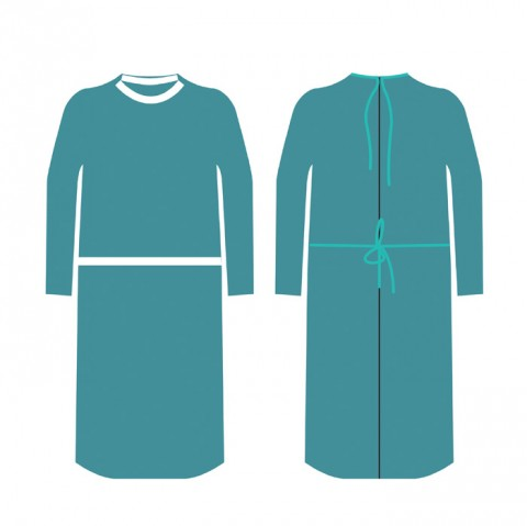 examination gown
