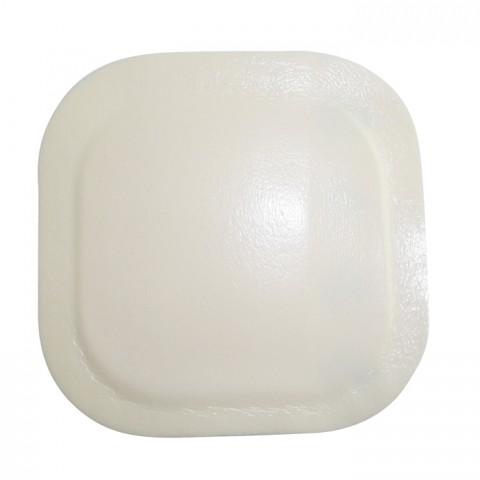 hydrocolloid dressing with foam (with thin border)